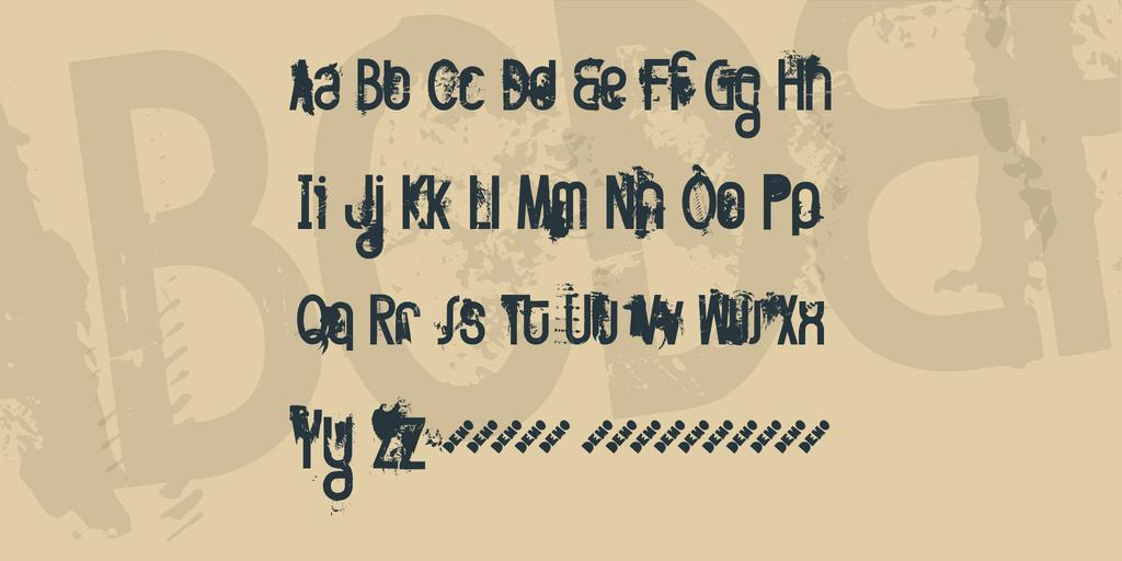 FT Twisted Ontogenesis Font 斑駁海報字型下載