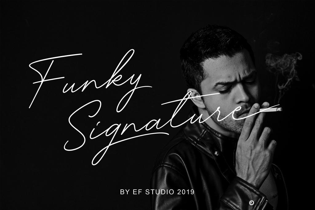 Funky Signature Font 質感簽名字型下載