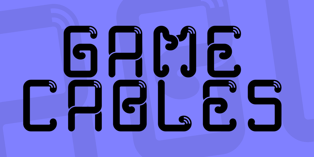Game Cables Font 遊戲捲曲字型下載