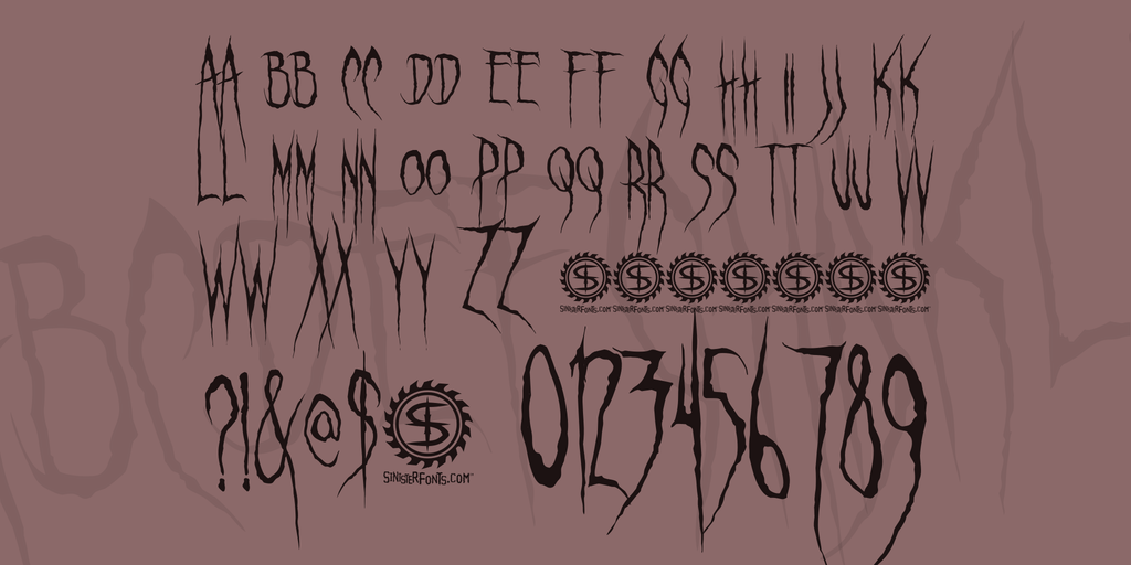 Ghastly Panic Font 驚悚手寫字型下載