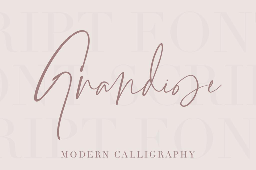 Grandiose Font 手寫品牌字型下載