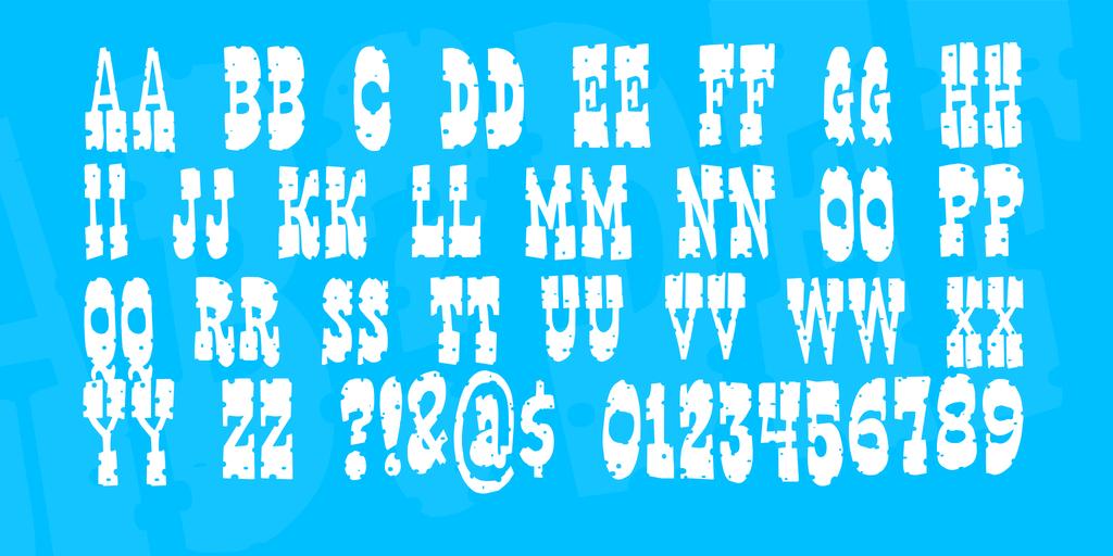 Gringo Nights Font 彈孔字型下載