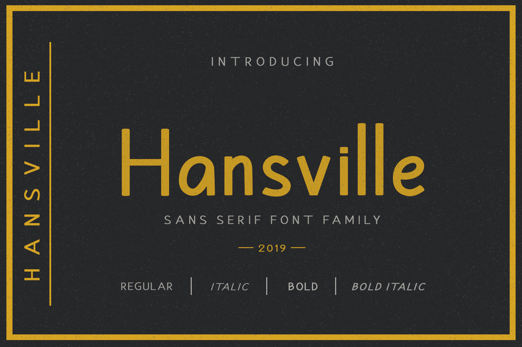 Hansville Font Family 美式品牌字型下載