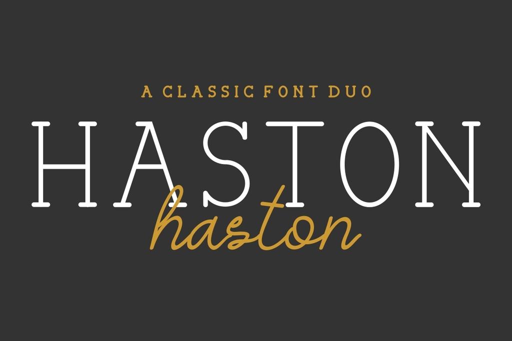 HASTON Font Family 英文襯線字型下載