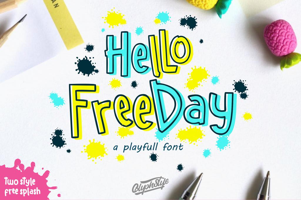 Hellofreeday Font Family 可愛調皮字型下載