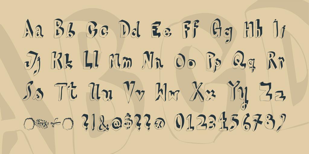 HVD Steinzeit Font 立體手繪字型下載
