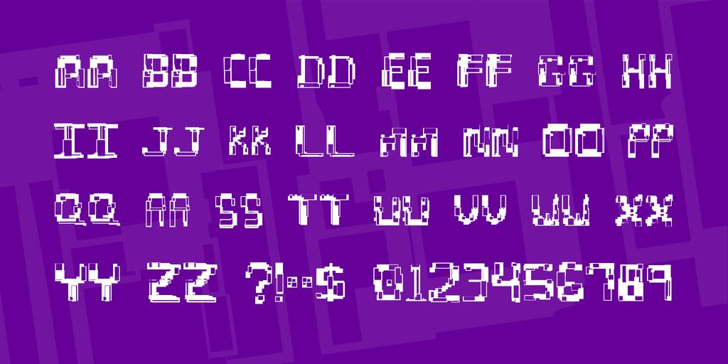 Hydrogen Font 特殊亂碼字型下載