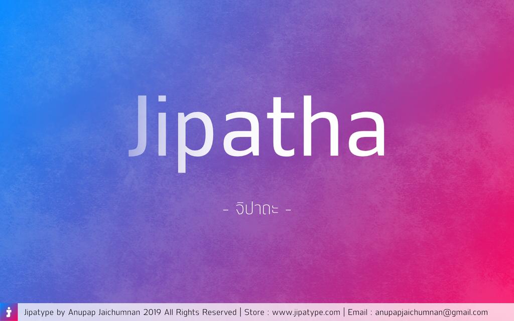Jipatha Font 質感標題字型下載