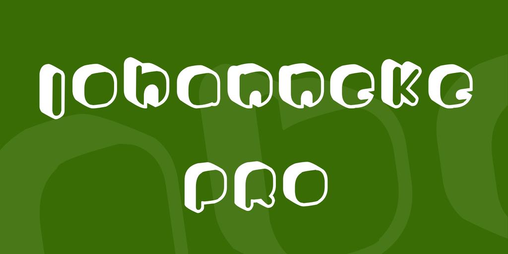 Johanneke Pro Font 3D造型字型下載