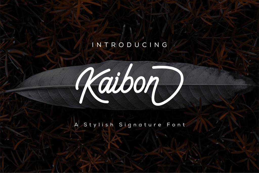 Kaibon Font 時尚簽名字型下載