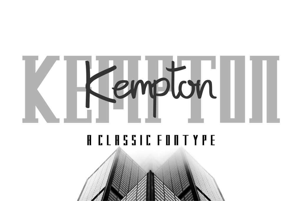 Kempton Font Family 現代標題字型下載