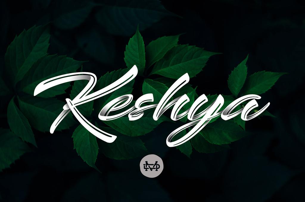 Keshya Font 手寫書法字型下載