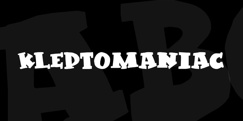 Kleptomaniac Font 可愛海報字型下載