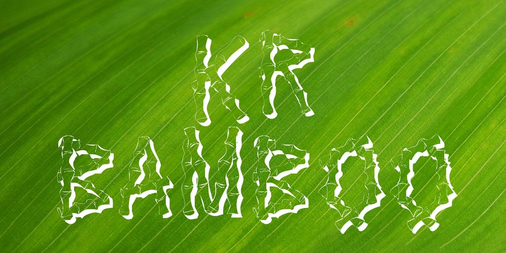 KR Bamboo Font 竹子字型下載