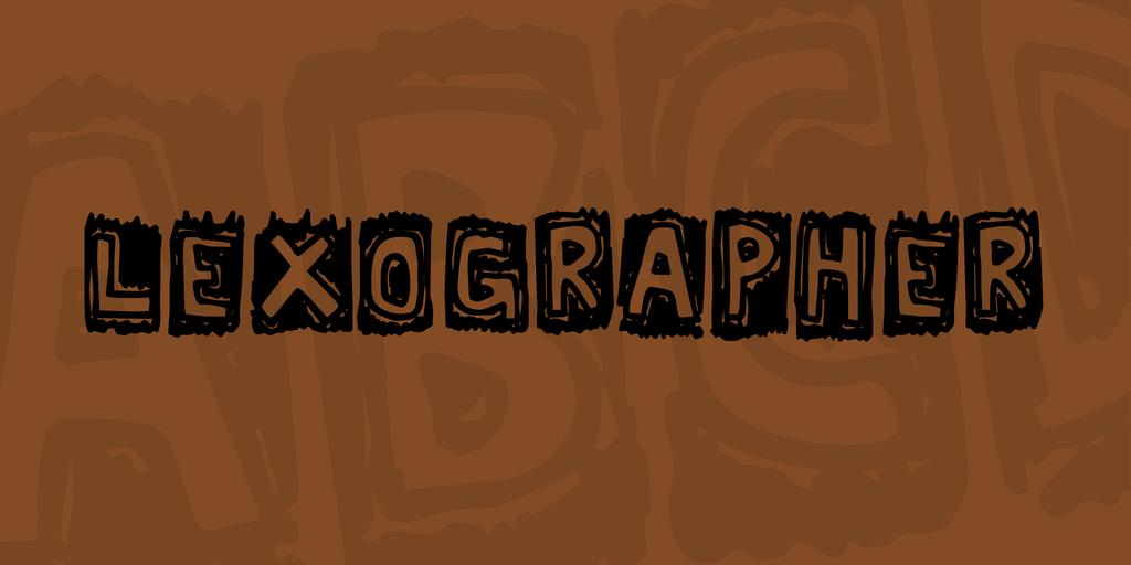 Lexographer Font 塗鴉手寫字型下載