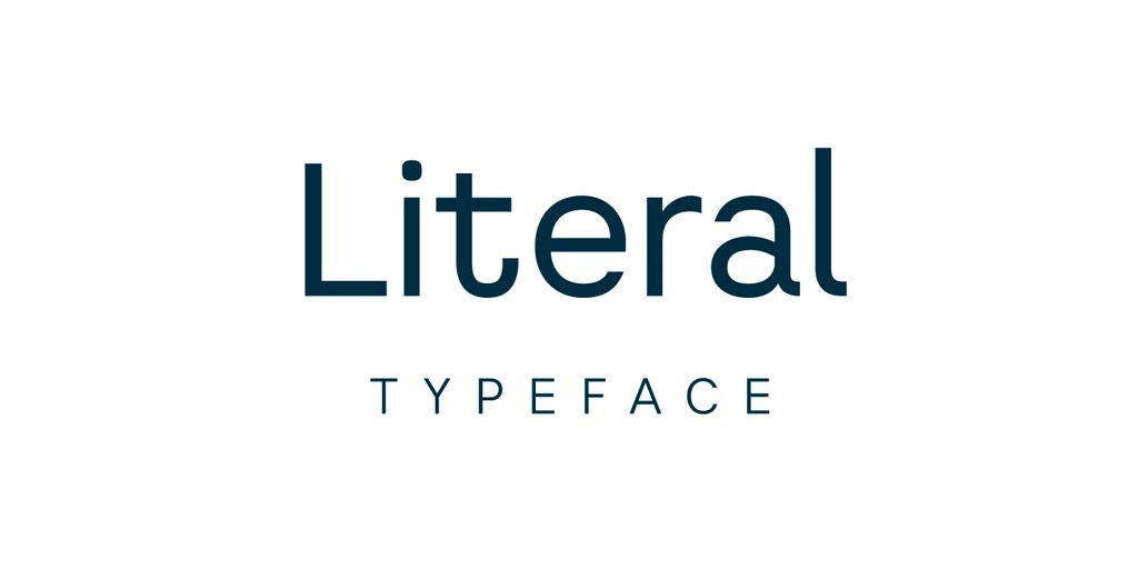 Literal Font Family 簡約封面字型下載