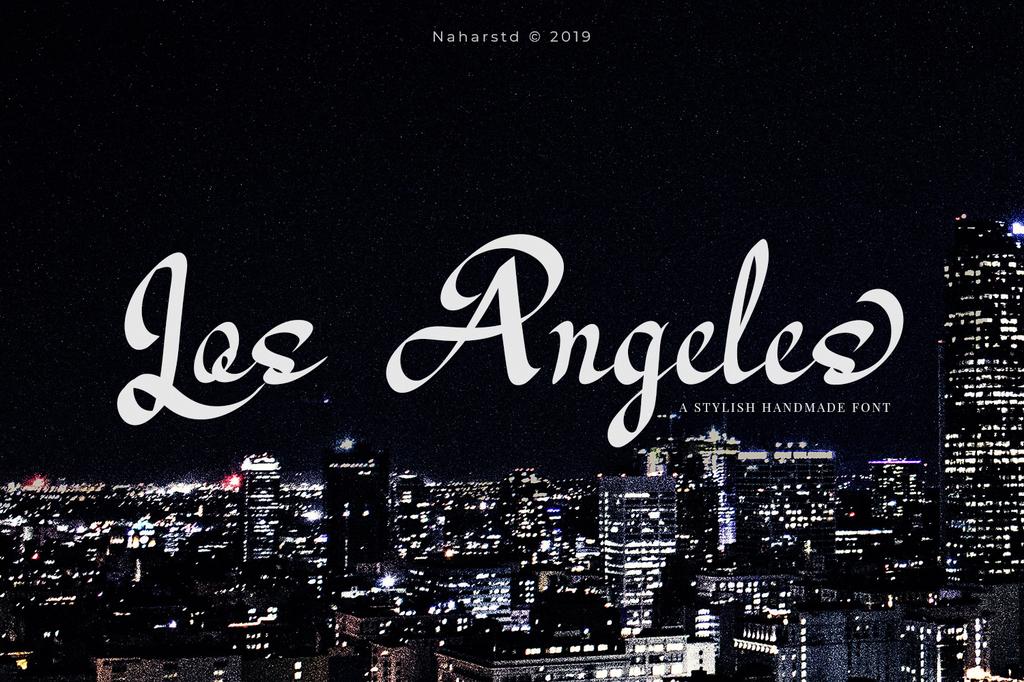 Los Angeles Font 美式手寫字型下載