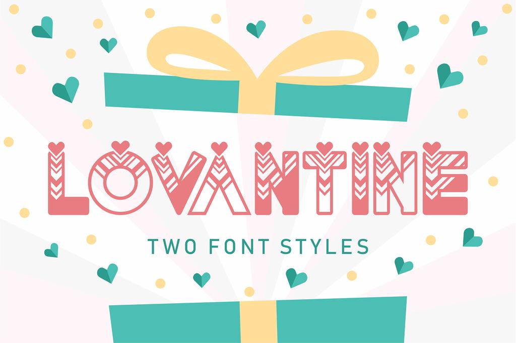 Lovantine Font Family 愛情求婚字型下載