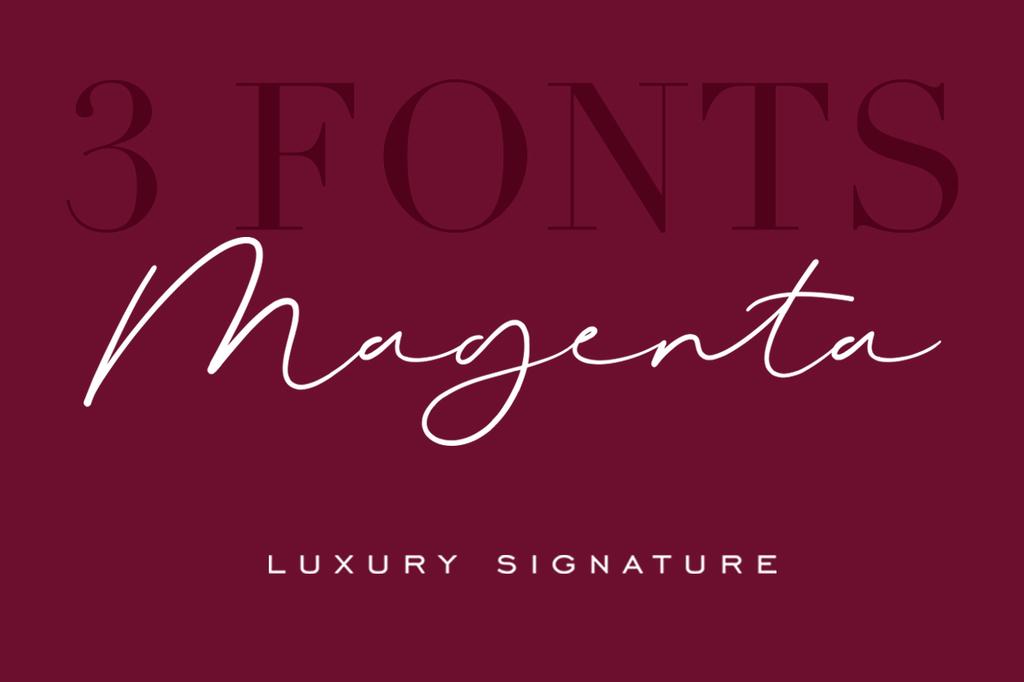 Magenta Font 藝人簽名字型下載