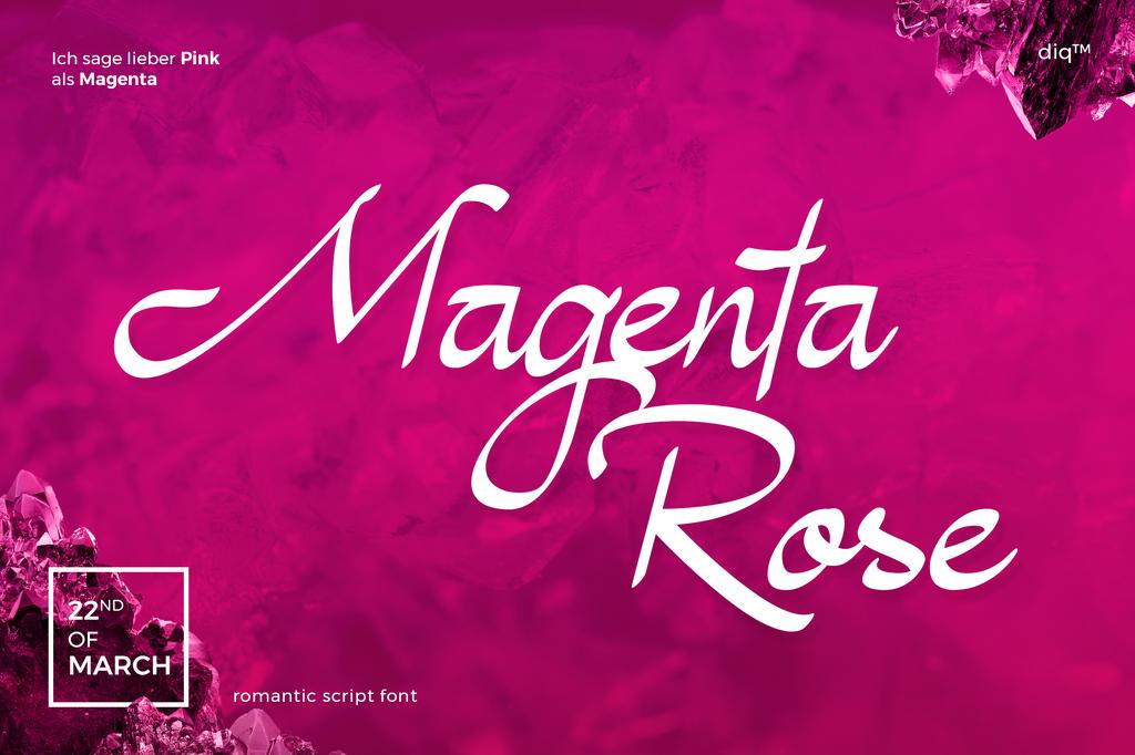 Magenta Rose Font 手寫美食字型下載