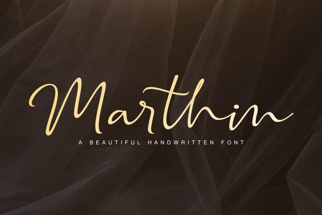 Marthin Font 文青手寫字型下載
