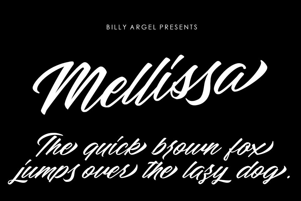 Mellissa Font Family 英文潦草字型下載