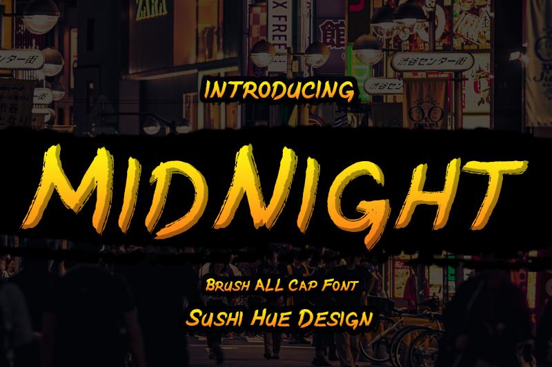 MidNight Font 英文筆刷字型下載