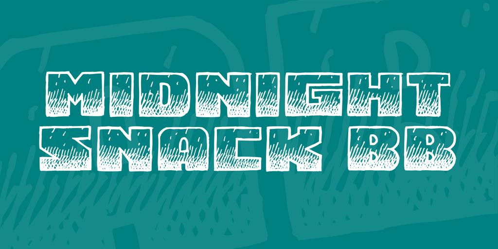 Midnight Snack BB Font 手繪條紋字型下載