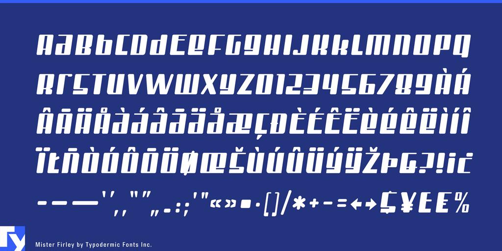 Mister Firley Font 工業風字型下載