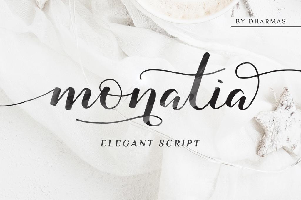 Monatia Font 優雅毛筆字型下載