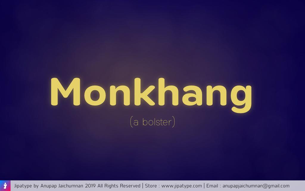 Monkhang Font 現代圓體字型下載