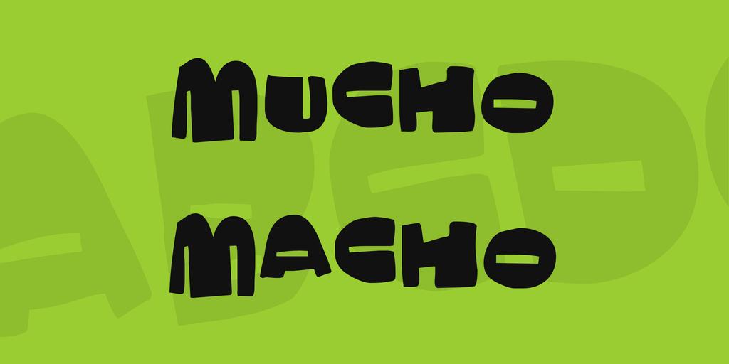 Mucho Macho Font 調皮手寫字型下載