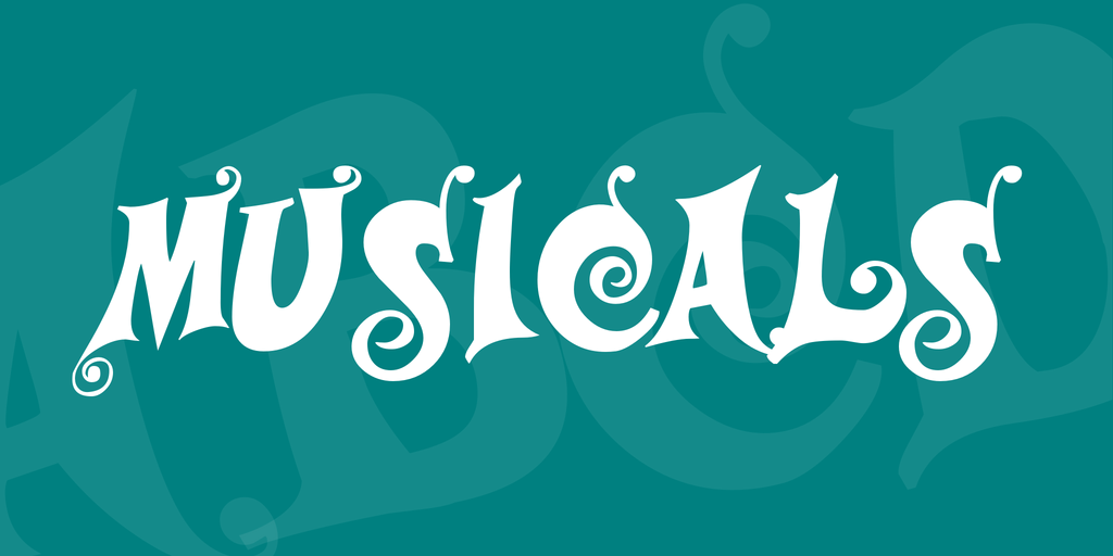 Musicals Font 音樂劇字型下載