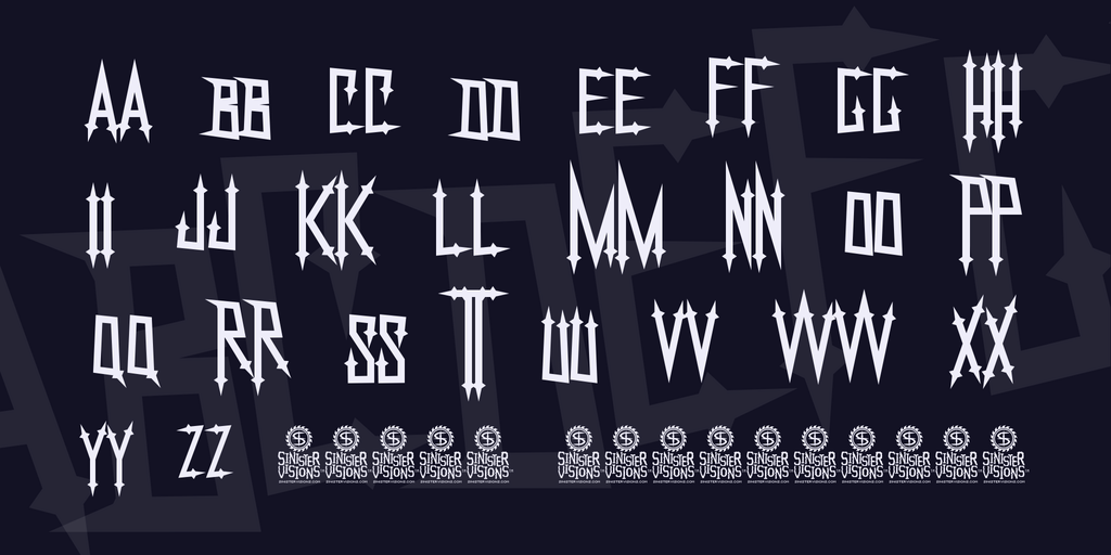 NekroKids Font 龐克字型下載