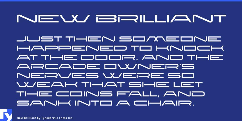 New Brilliant Font 頭條報紙標題字型下載