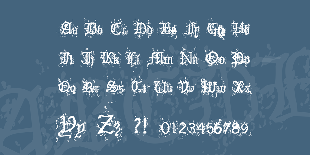 Old English Hearts Font 老舊英文字型下載
