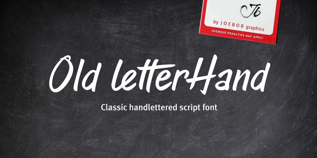 Old Letterhand Font 復古信封字型下載