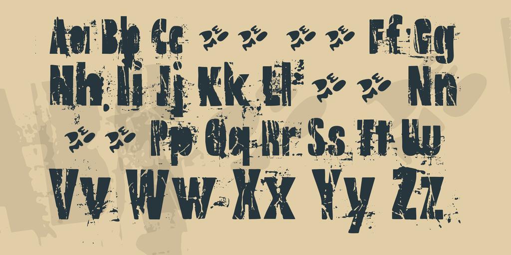 Old Note Demo Font 斑駁風字型下載 字型下載