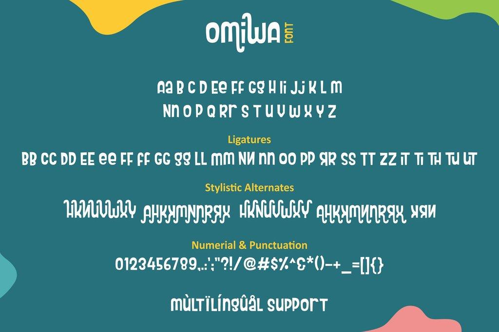 Omiwa Font 可愛活潑字型下載