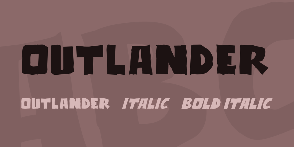 Outlander Font Family 可愛英文手寫字型下載