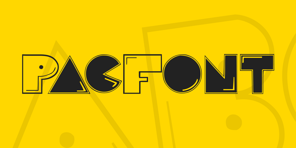 PacFont Font 小精靈字型下載