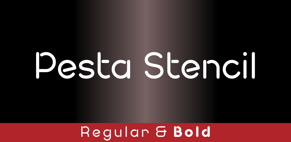 Pesta Stencil Demo Font Family 標題綱印字型下載