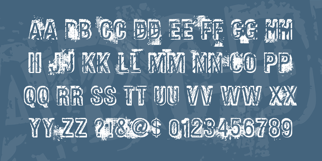 Phat Grunge Bold Font 斑駁立體字型下載 字型下載