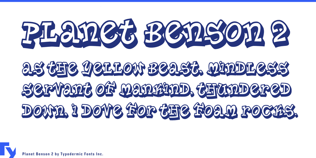 Planet Benson Two Font 可愛塗鴉字型下載