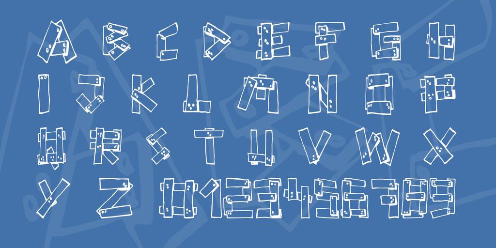 Planks Font 可愛木板字型下載 字型下載