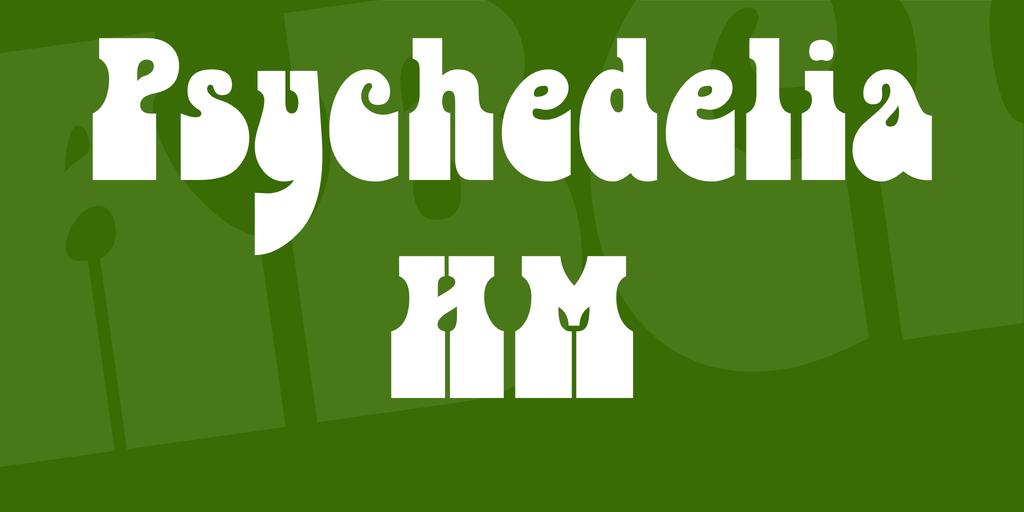 Psychedelia HM Font 創意復古字型下載