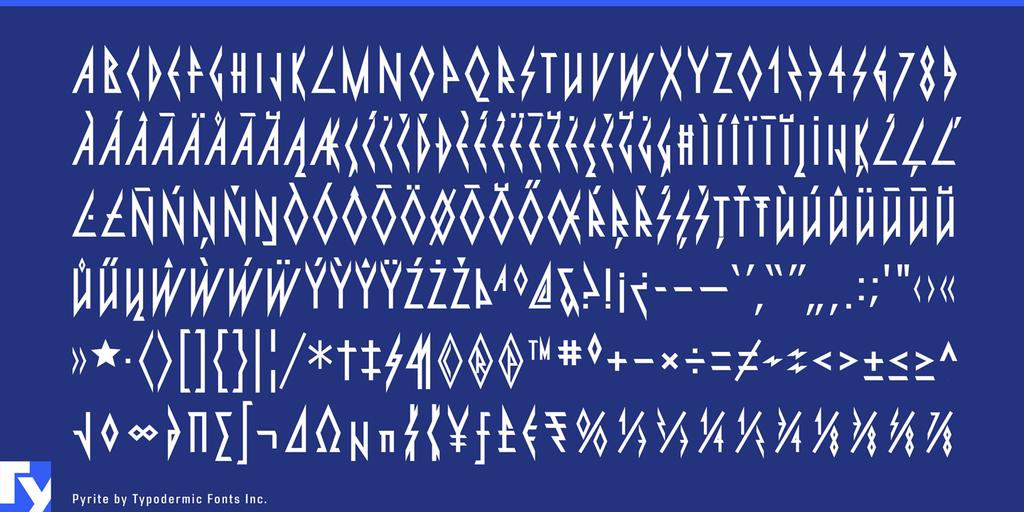 Pyrite Font 重金屬樂團字型下載