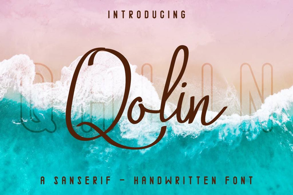 Qalin Font Family 英文奇異筆字型下載