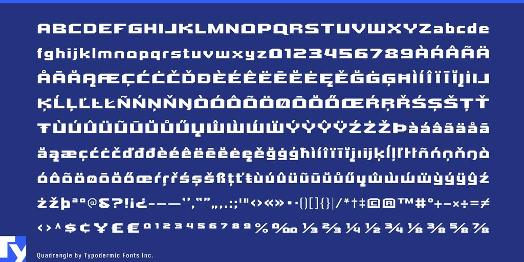 Quadrangle Font 尖角字型下載