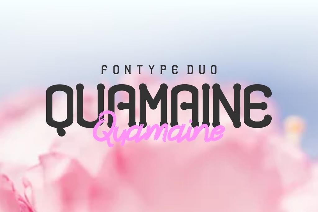 Quamaine Font Family 可愛英文字型下載